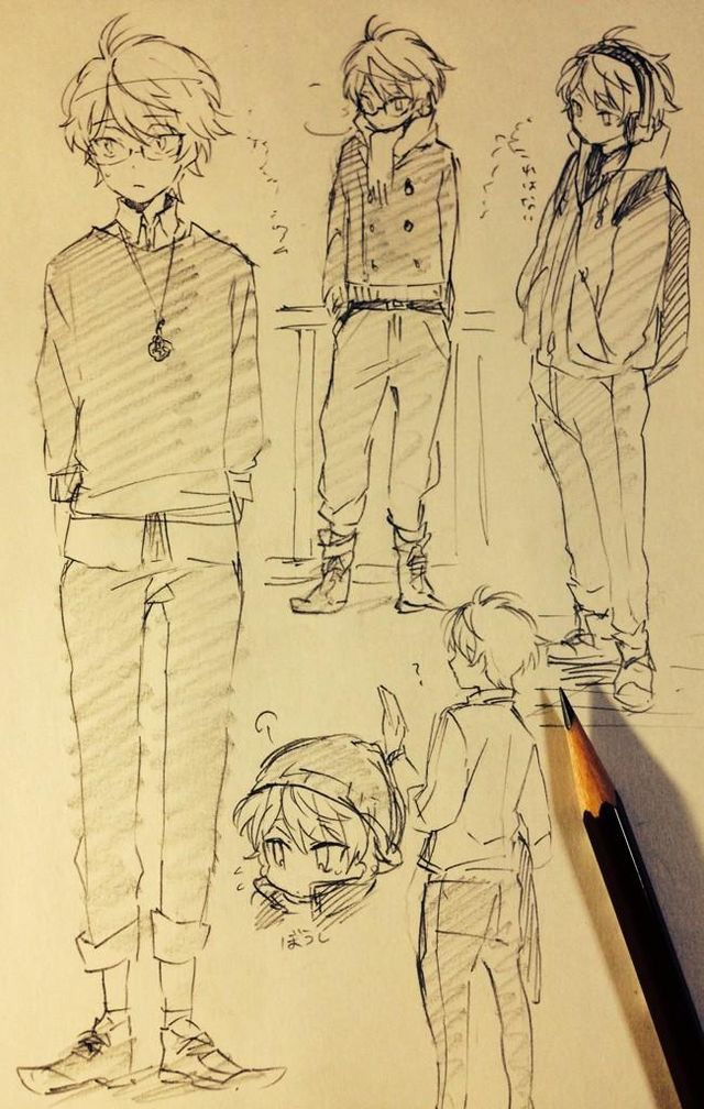 Manga Nerd Boy Anime Art Idea Character Sketches Anime Sketch Anime Drawings