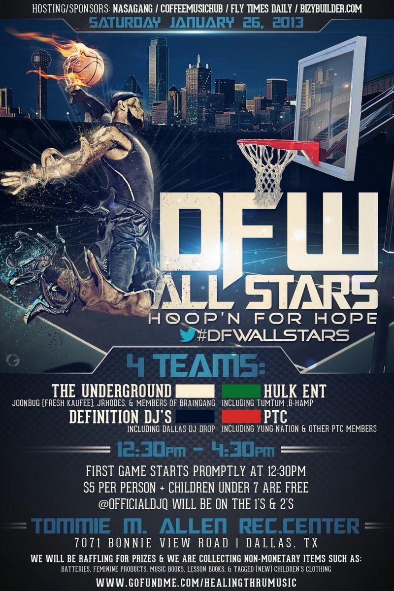 Dfw allstars hoopn for hope charity basketball