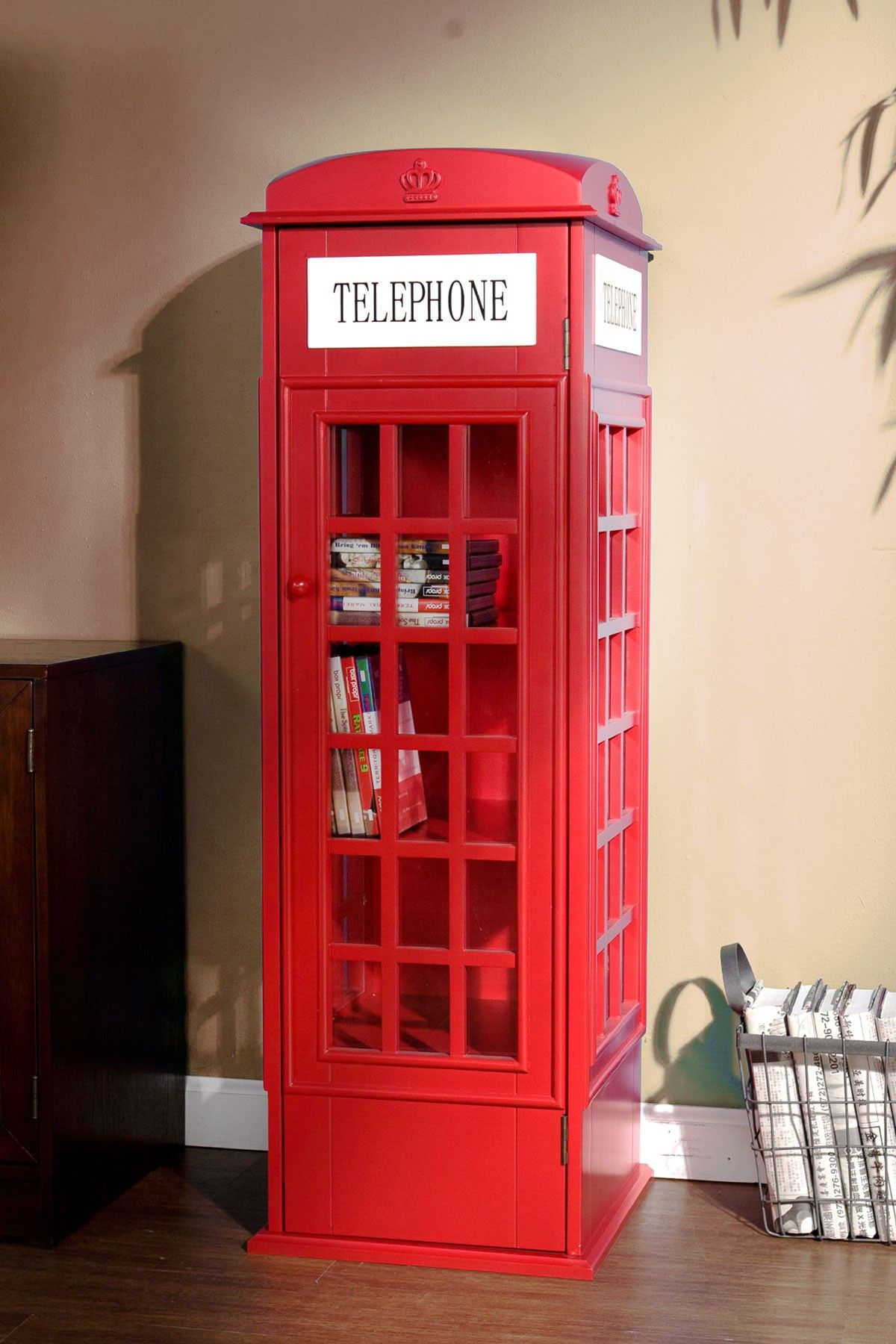 Outstanding Phone Booth Cabinet How Much Fun Is This Shelf For The Download Free Architecture Designs Scobabritishbridgeorg