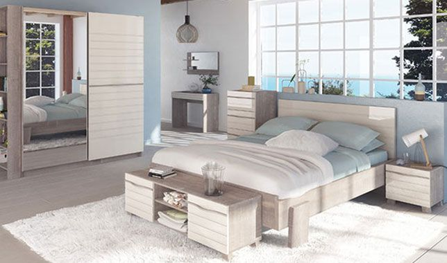 chambre d co bord de mer marina. Black Bedroom Furniture Sets. Home Design Ideas