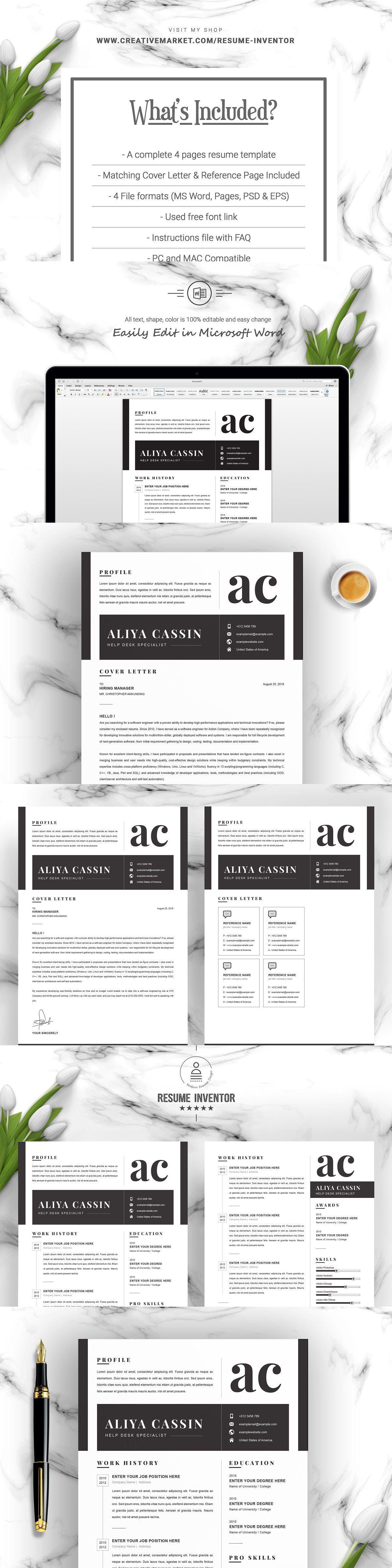Minimal and black white clean resume modern resume