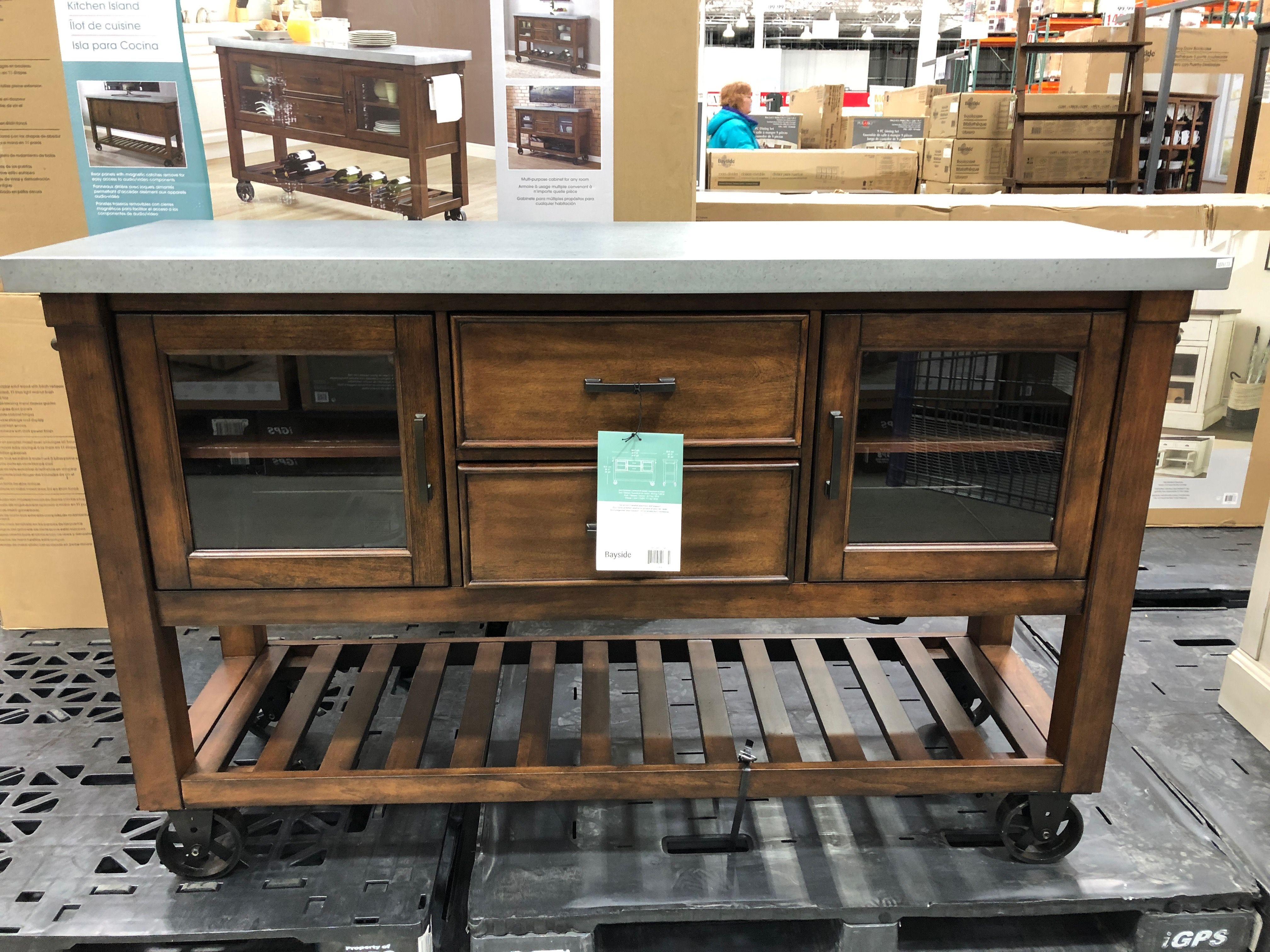 bayside kitchen island console at costco 399 99 61 x20 x38