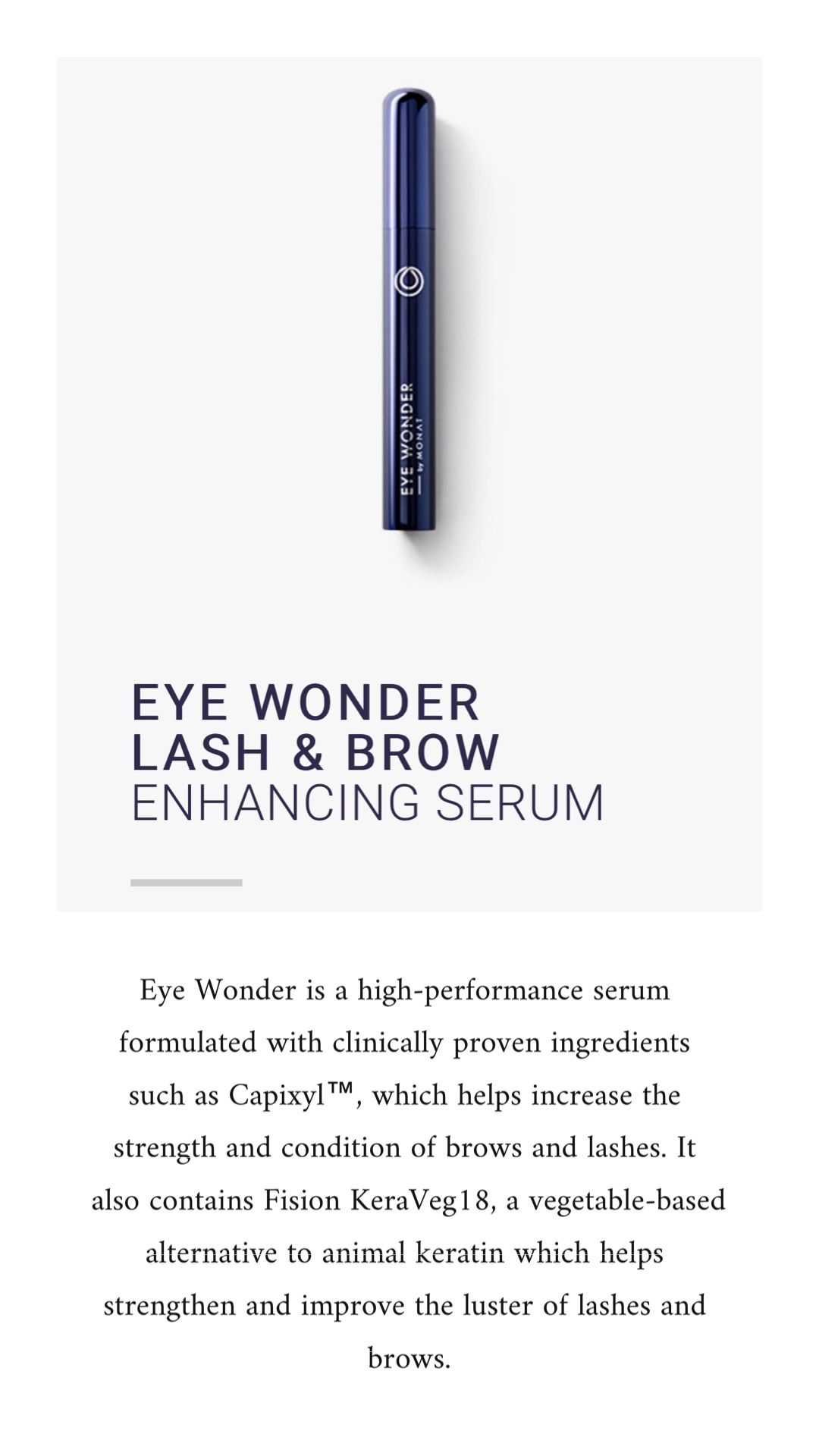 e71ac9f1106 Eye wonder lash & brow serum | Monat in 2019 | Brow serum, Eyelash ...