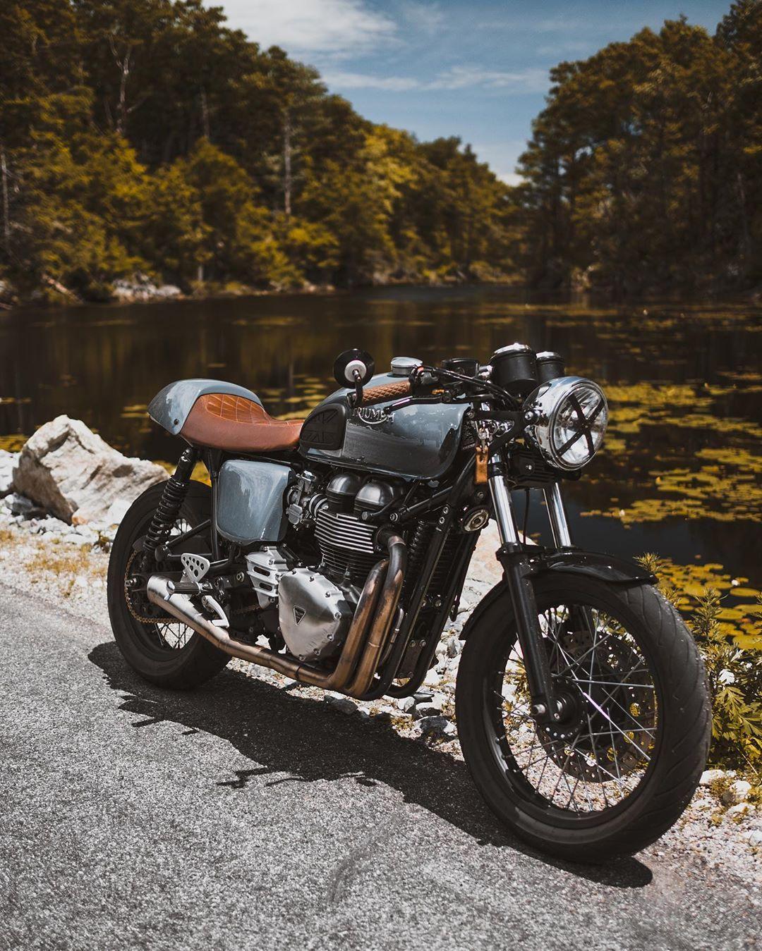 The Thruxton Boys On Instagram The Boys Are Back In Town Cafe Bike Cafe Racer Custom Bikes