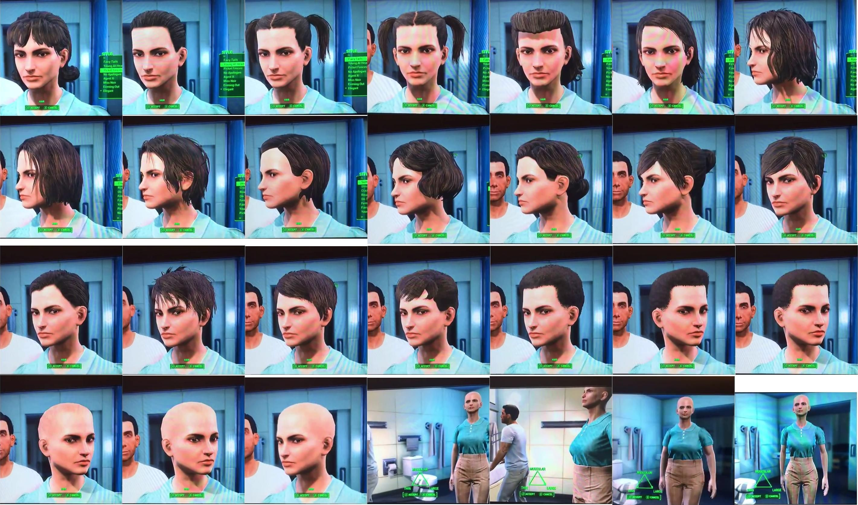 Fallout 4 Hair And Beard Customization Options Was Leaked