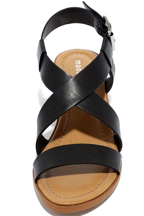 c59a32b97eb Madden Girl Tulum Black Heeled Sandals   Shopping lists   Sandals ...