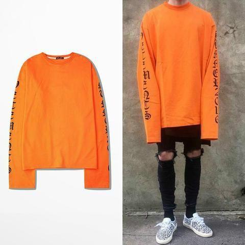 da21329bacc ... Tee Casual Brief Clothing. 2018ss Top Vetements Oversized Sweatshirts  Men Hoodies Dario Oversize Drooping Shoulders Men s Top Kanye West Fog  Sweatshirt