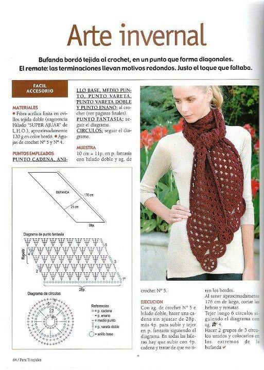 Pin de Leedie Grace en Crochet Scarfs | Pinterest | Cuello de ...