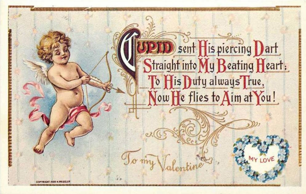Английская открытка на день валентина