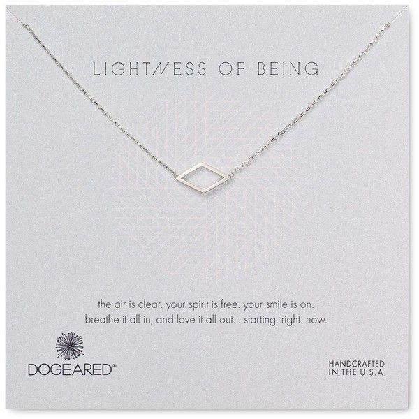 "Dogeared Lightness of Being Pendant Necklace, 18"" ($72) ❤ liked on Polyvore featuring jewelry, necklaces, silver, silver jewellery, dogeared jewelry, silver jewelry, silver chain necklace and chain jewelry"