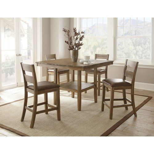 White Cane Outdoor Furniture, Found It At Wayfair Cambrey 5 Piece Counter Height Dining Set Counter Height Dining Sets Counter Height Dining Table Dining Table
