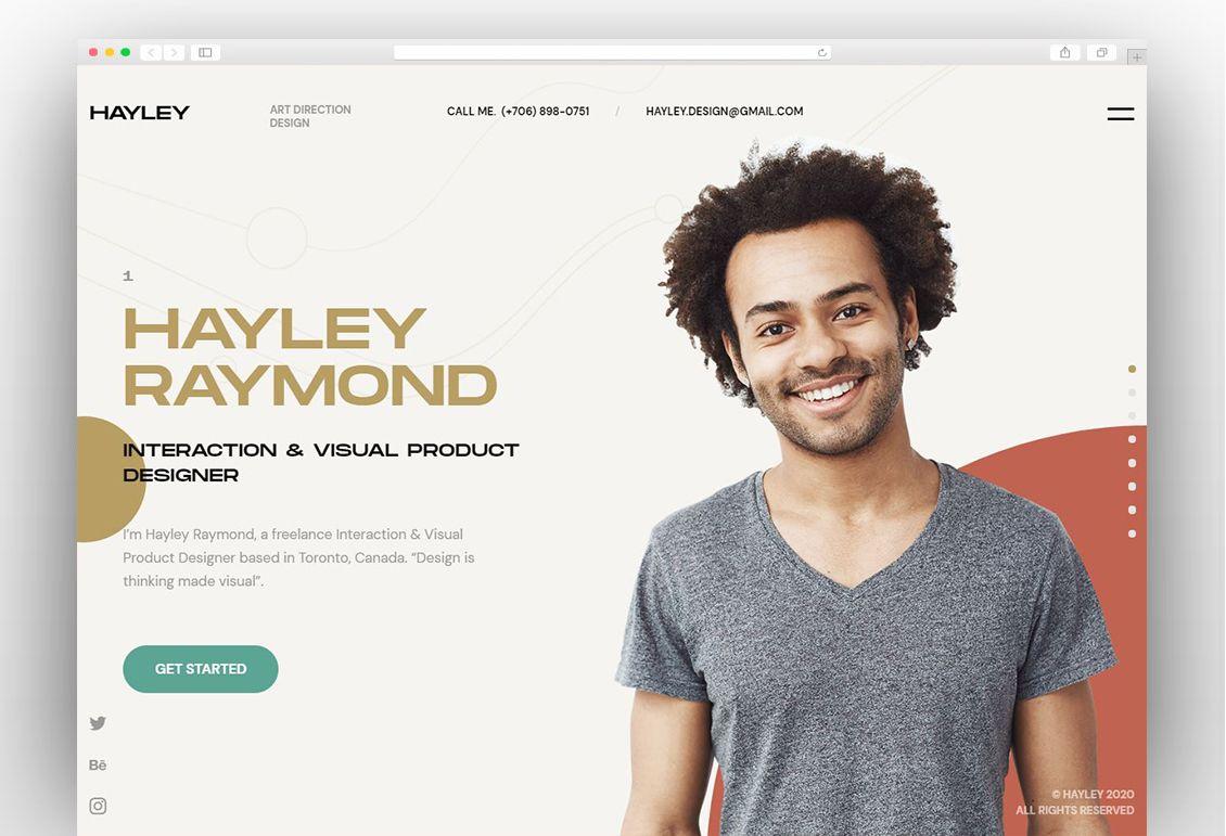 Hayley Creative Personal Cv Resume Html Template Html Templates Templates Person