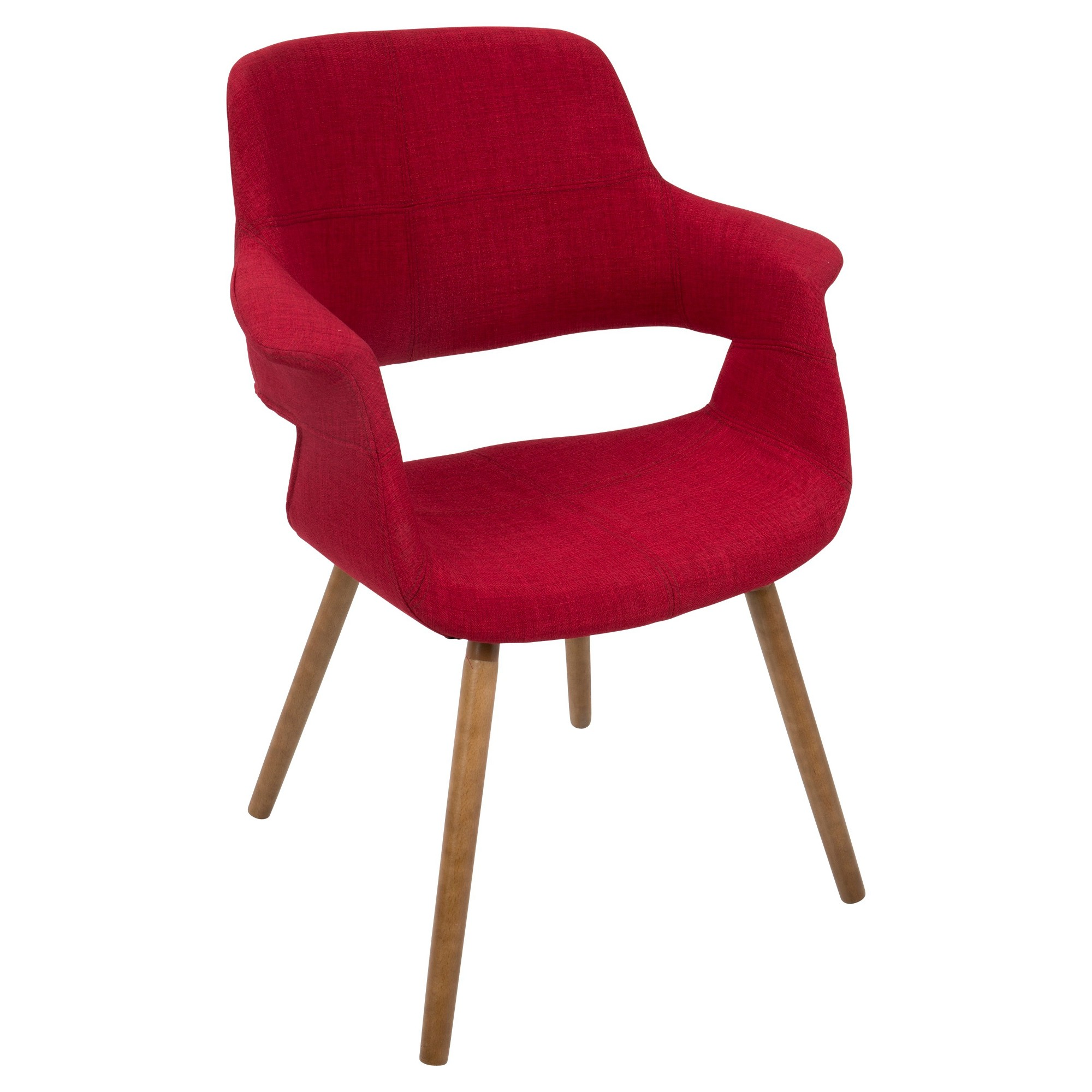 Cool Vintage Flair Mid Century Modern Chair Red Lumisource Beatyapartments Chair Design Images Beatyapartmentscom