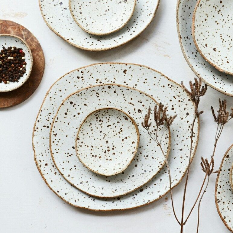 Ceramic Serving Set Rustic White Serving Set Ceramic Diy Tableware Ceramic Tableware Pottery Plates