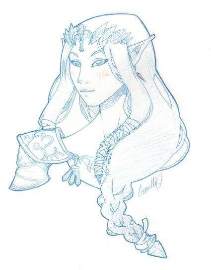Awesome #Zelda sketch <3 by Camille Georget
