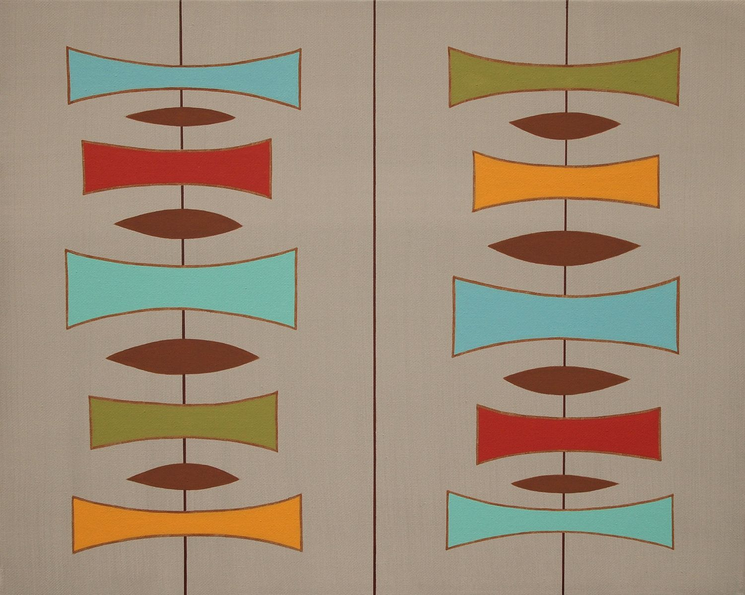Mid Century Modern Art they've researched and done paint analysis on historic properties