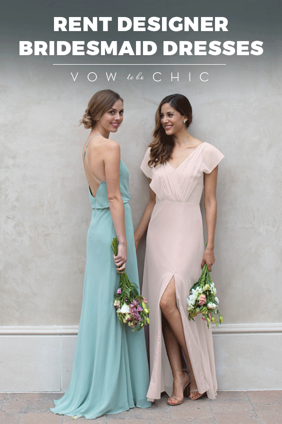 Vow To Be Chic makes bridal parties look like a million bucks for under a hundred! Our curated collection includes the most popular styles, colors and designers, including Monique Lhuillier and Jenny Yoo, to name a few. Sign up and receive a complimentary consultation with a Bridal Stylist to see how Vow To Be Chic can bring your wedding vision to life!