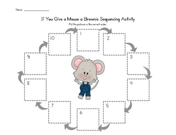 If You Give A Mouse A Brownie Story Sequence Activity Sequencing