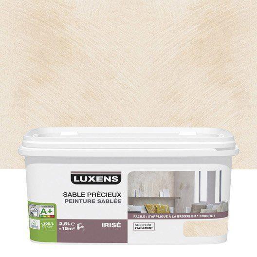 Peinture Decorative Sable Precieux Luxens Blanc Lin 6 2 5 L Peinture Effet Sable Peinture Decorative Gris Galet