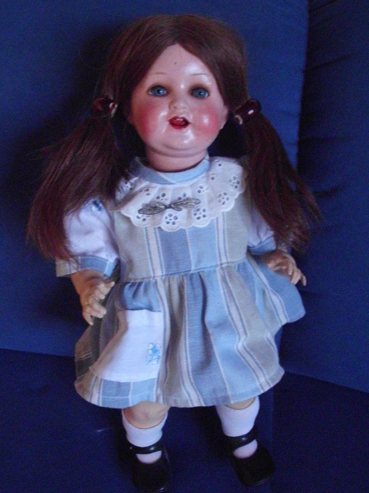 entzückende alte  Puppe v.Heubach Köppelsdorf 342/3/0 45 cm bekleidet,schau mal in Antiquitäten & Kunst, Antikspielzeug, Puppen & Zubehör | eBay!