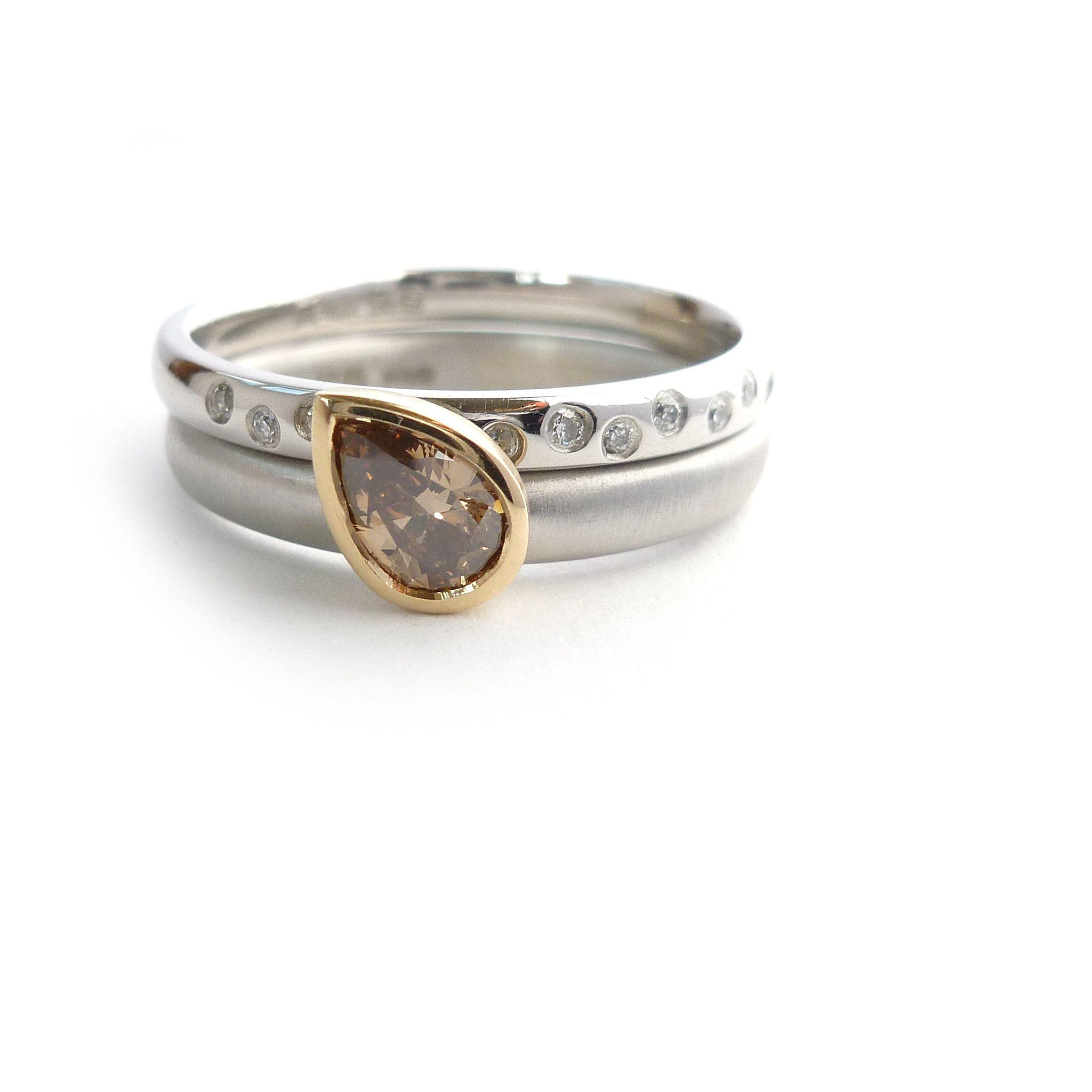 d133d5c6f Platinum and Cognac Diamond Ring   Fun Stuff   Pinterest   Rings ...