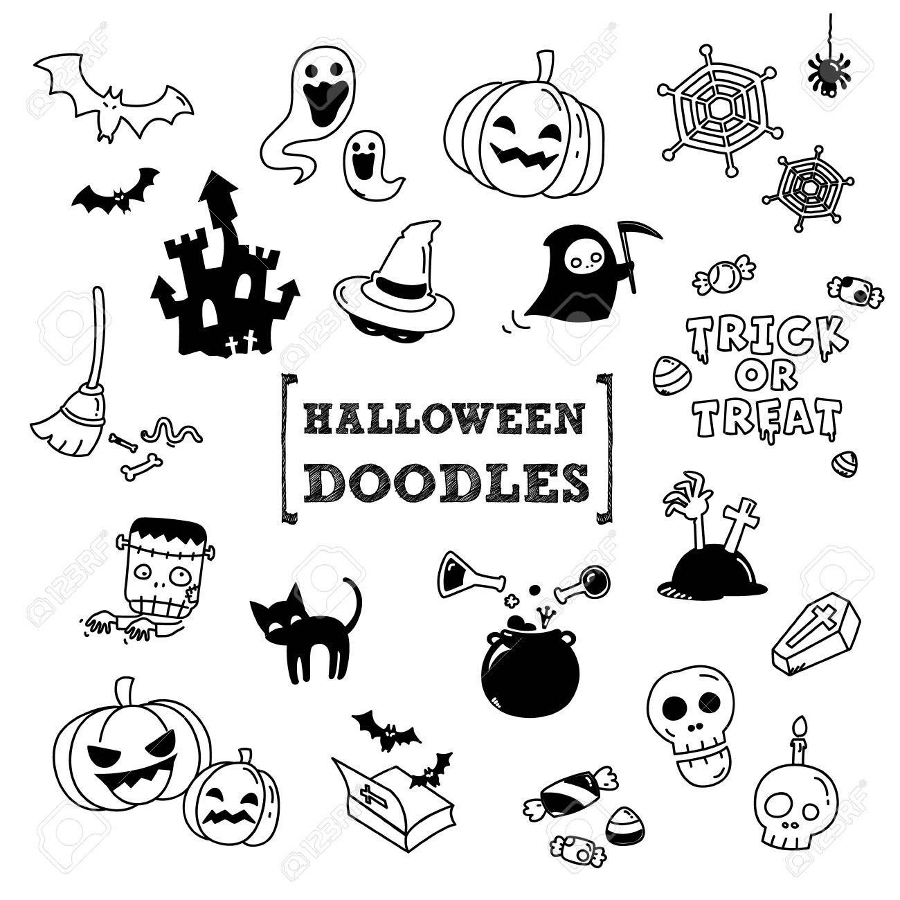 halloween cat doodle Google Search (With images