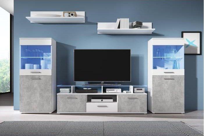 prix compétitif d3c7a 02c39 ELIO Meuble TV mural avec LED pas cher - Meuble Tv Cdiscount ...