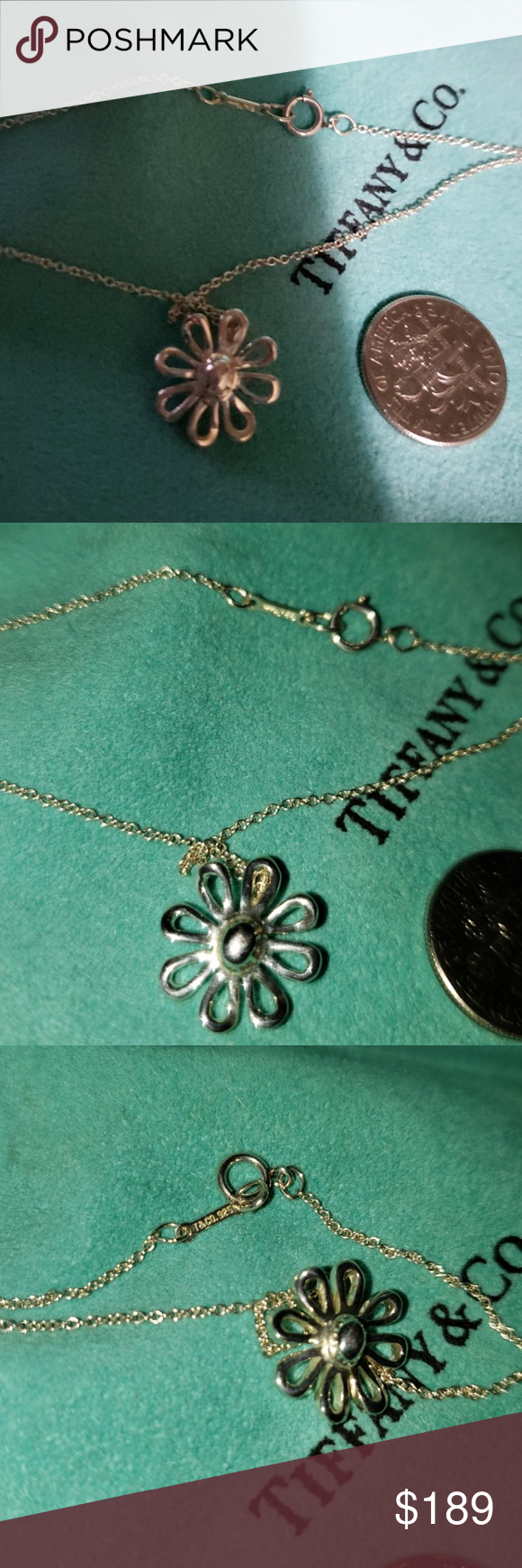 47f15a0d1 TIFFANY PALOMA PICASSO STERLING SILVER DAISY, 9N HALLMARKED 16 INCH TIFFANY/PALOMA  PICASSO CHAIN! (Last 2 pics for value comparrison only) Tiffany & Co.