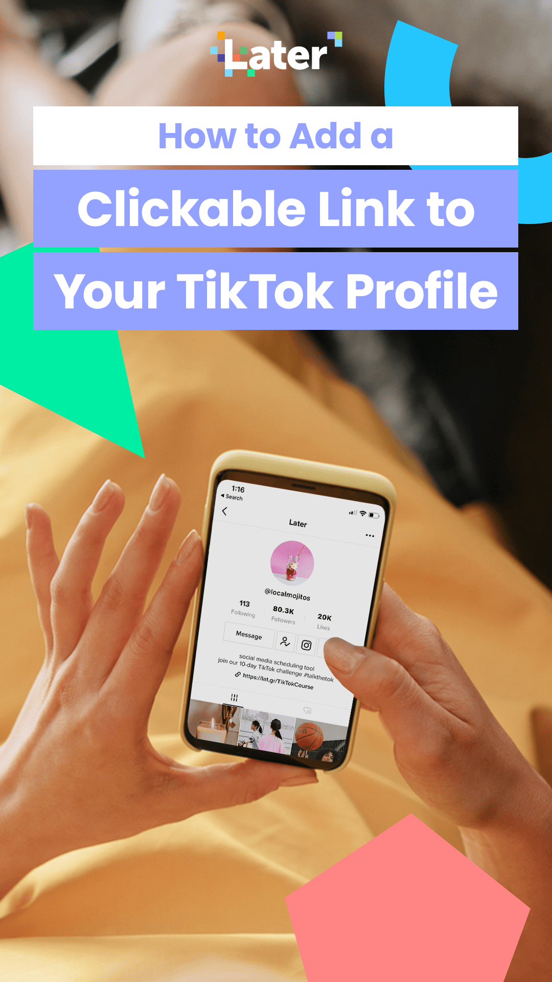 Tiktok Link In Bio How To Get A Clickable Link On Your Profile Social Media Content Strategy Social Media Advice Kids Social Media