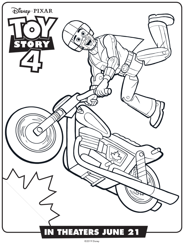 Duke Caboom Free Coloring Sheet From The Toy Story 4 Movie Dukecaboom Toystory4 Toy Story Coloring Pages Disney Coloring Pages Toy Story Printables