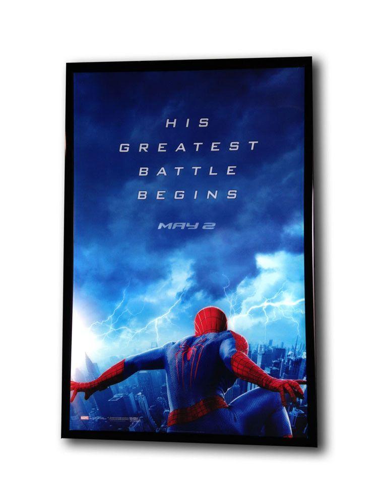 27x41 LED Black Aluminum Light Box Movie Poster Frame | Movie Poster ...