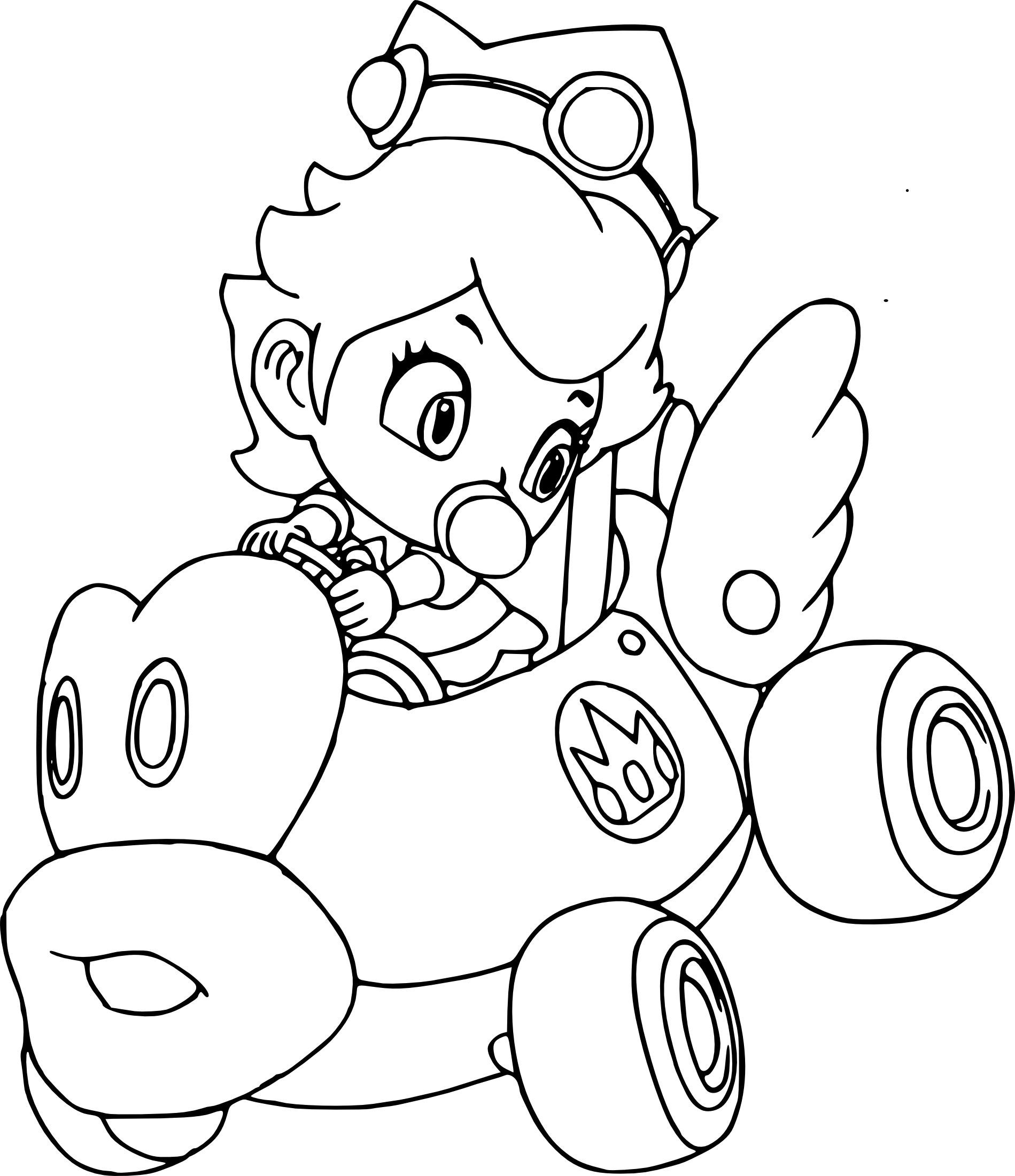 Mario Kart Wii Characters Coloring Pages Coloring Pages Free Coloring Pages Peach Mario Kart