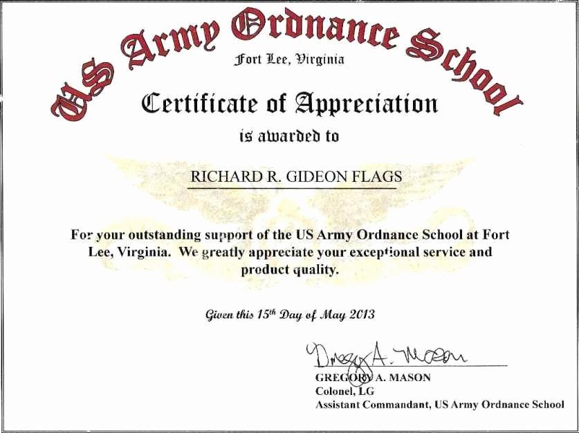 20 Certificate Of Commendation Usmc Template In 2020