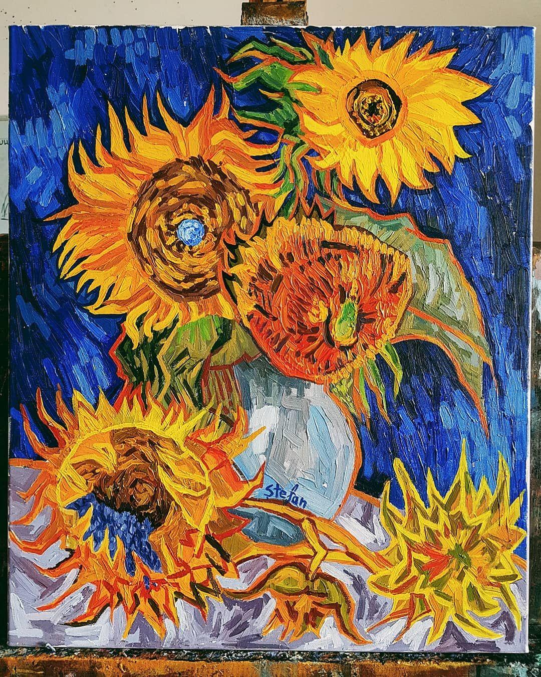 blue flower painting by van gogh