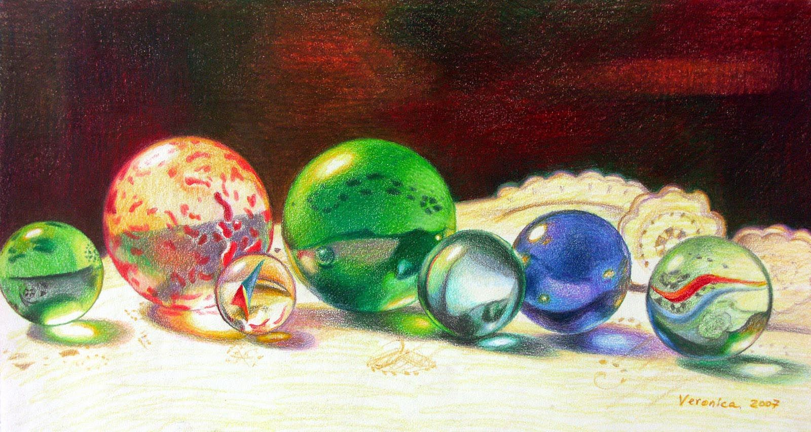 Colored Pencil Drawings Of Marbles : Still life drawing colored pencil pixshark