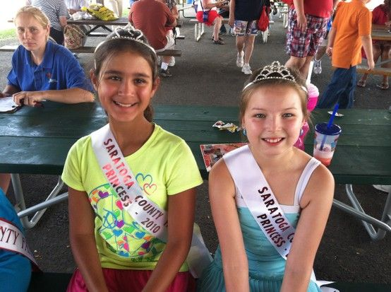 Princesses from the Saratoga County Fair Sisterhood in a different way