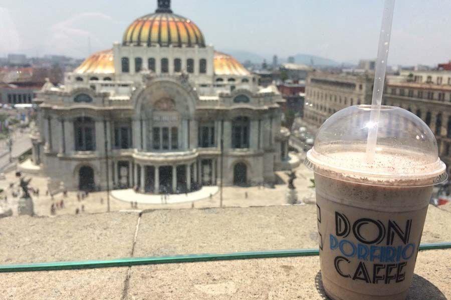Cafe Don Porfirio La Mejor Vista Del Palacio De Bellas Artes Mexico City City Taj Mahal