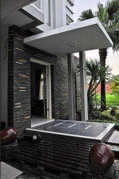 40 Gambar  Model Kanopi Rumah  Minimalis  Desainrumahnya