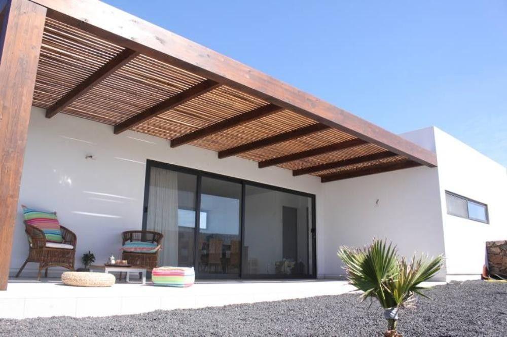 Location vacances maison lajares ext rieur casa playa en 2019 maison auvent bois et maison - Auvent maison moderne ...