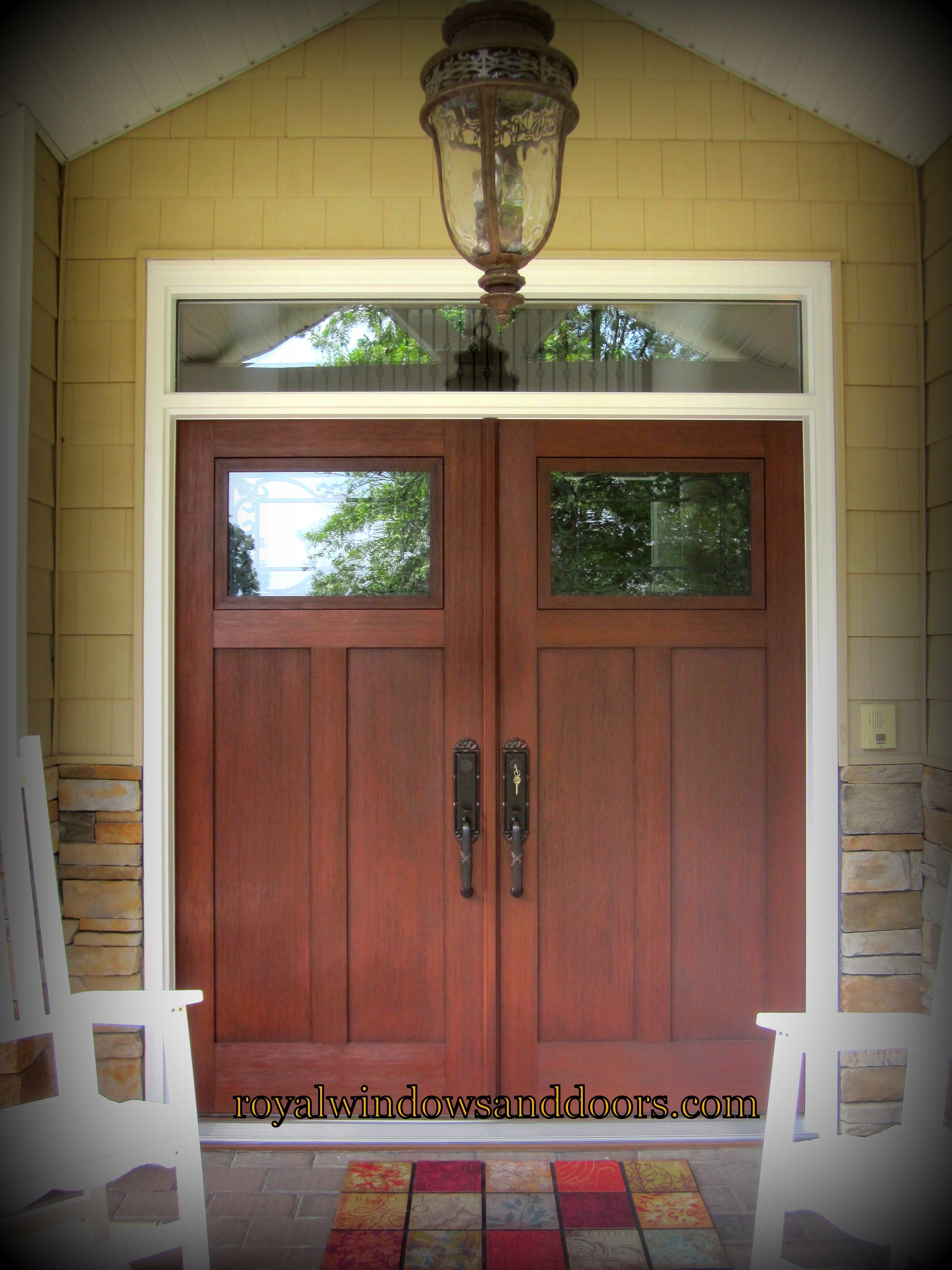 Craftsman Style Entry Door On Long Island Ny Royal Windows And