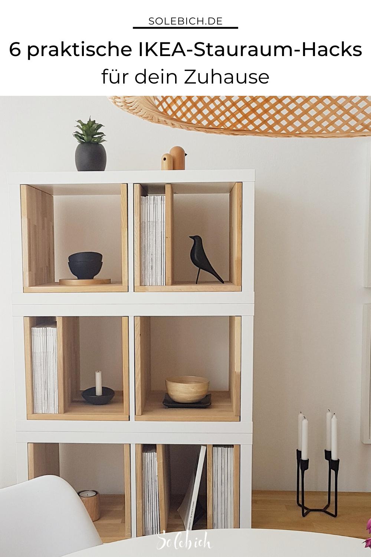 Schöner Stauraum: 5 einfache IKEA-Hacks - Modernes Bücherregal #schönerwohnen