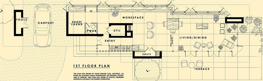 Floor Plans Of The Louis Penfield House By Frank Lloyd Wright Frank Lloyd Wright Homes Penfield Floor Plans
