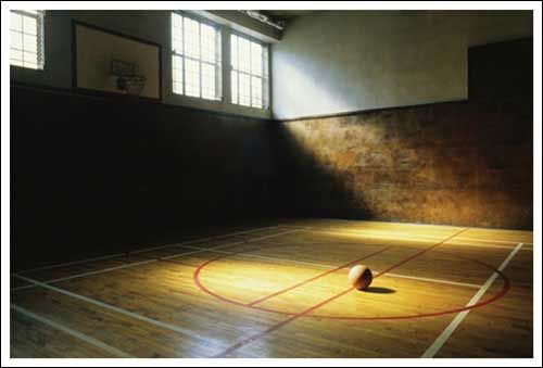 Vintage Basketball Court Youth Sports Basketball Indoor Basketball Court