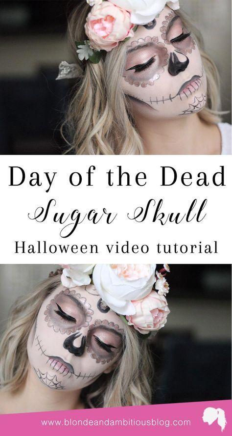 halloween tutorial series day of the dead sugar skull. Black Bedroom Furniture Sets. Home Design Ideas