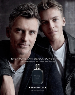 Kenneth Cole launches MANKIND Hero, a fresh new mens fragrance that celebrates everyday heroism. Legendary model John Pearson and his son Cooper Pearson front the campaign. http://www.missfashionnews.com/2016/03/16/kenneth-cole-mankind-hero/