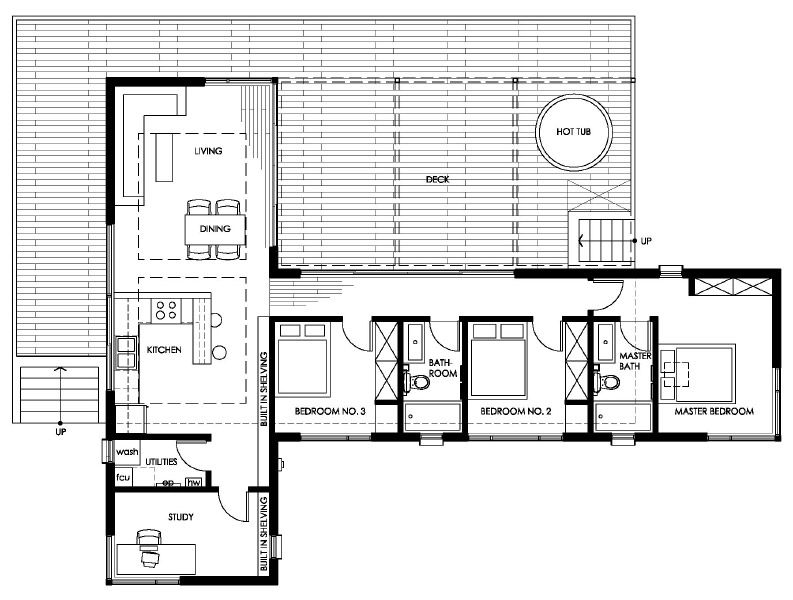 A Desert House That Soaks Up The View House Plans Vintage House Plans Container House