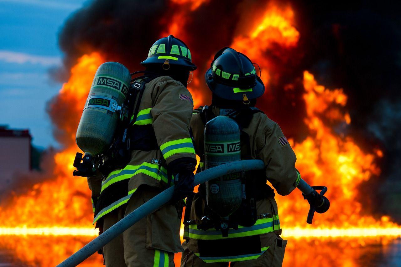Fireman beaten with a crowbar while battling a blaze