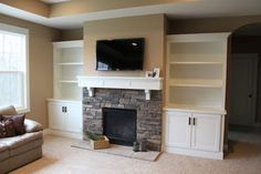 A Built In Media Cabinet Next To The Fireplace Would Be Nice But