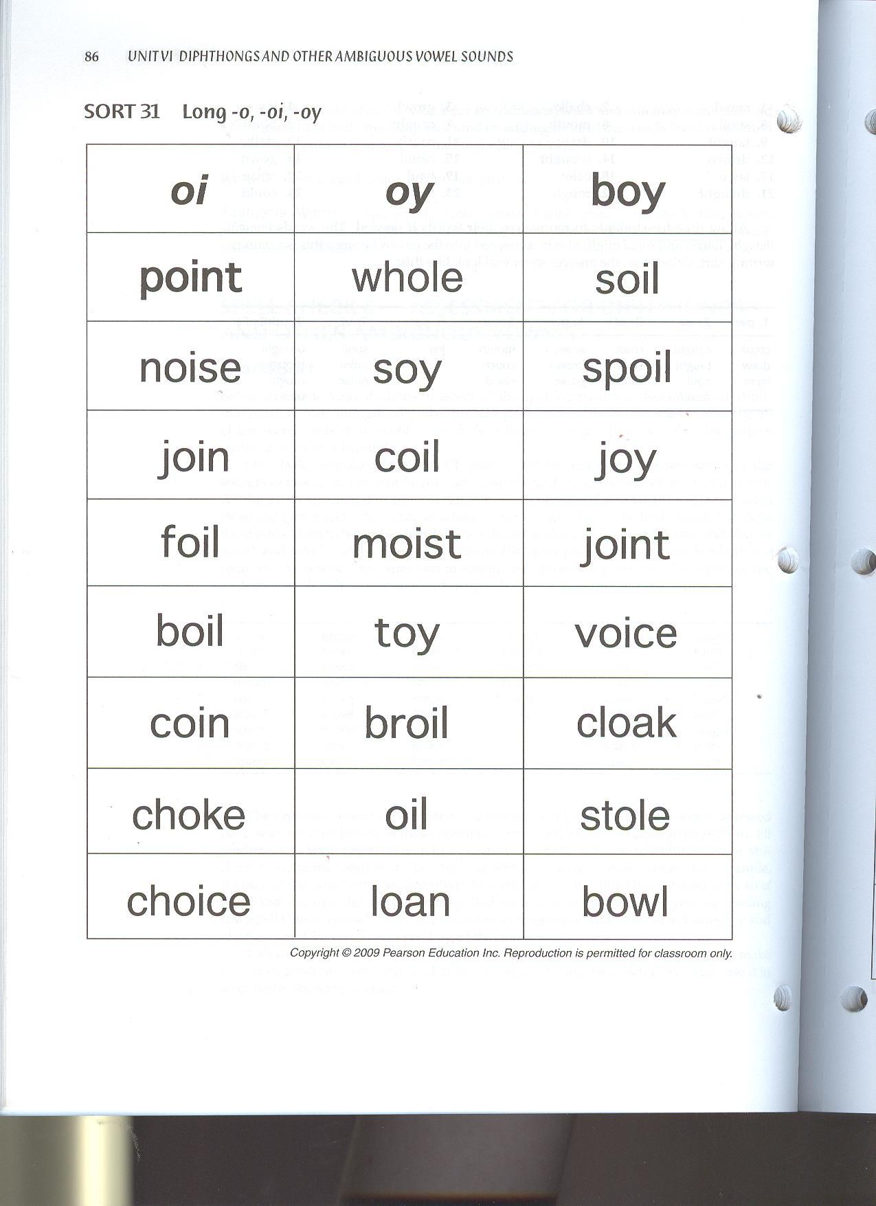 Oi Oy Sight Word List Also Includes Reading And Spelling