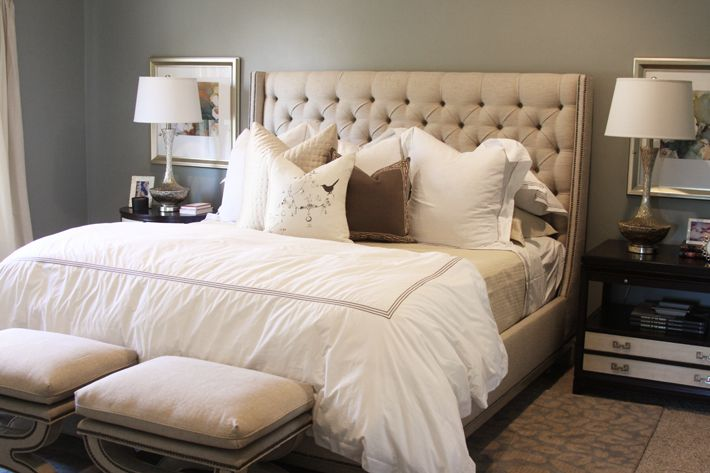 Chic Bedroom Design With Horchow Vanguard Brea Bed White Hotel